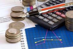 Finanzreport Lizenzfreie Stockbilder
