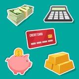 Finanzsatz Stockfoto