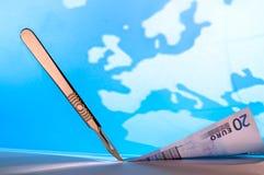 Finanzschnitte in Europa Lizenzfreie Stockbilder
