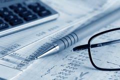 Finanzschwerpunkt. Stockfoto