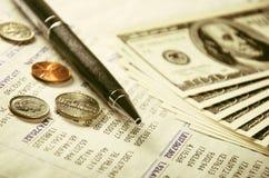 Finanzserie Stockbild