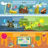 Finanzstatistik-Kosten und Einkommen Lizenzfreie Stockfotos