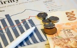 Finanzstatistiken Lizenzfreies Stockfoto