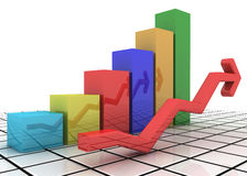 Finanzstatistiken stock abbildung