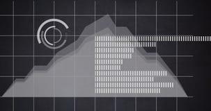 Finanztendenz in einem Kellerbereichdiagramm 4k stock footage
