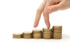 Finanztropfen lizenzfreie stockfotos