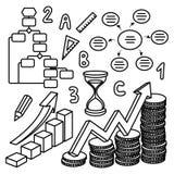 Finanzvektorzeichnungen Lizenzfreie Stockfotografie