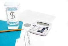 Finanzverdauungsstörung lizenzfreies stockfoto
