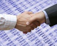 Finanzvereinbarung Stockfoto