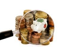 Finanzvermögen im Fokus lizenzfreie stockfotografie