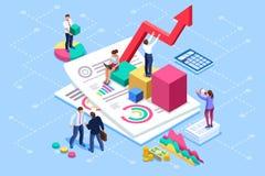 Finanzverwaltungs-und Rechnungsprüfungs-Beratungssitzungs-Konzept lizenzfreie abbildung