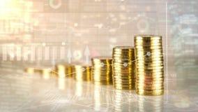 Finanzwachstum auf infographic Hintergrund stock video footage
