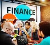 Finanzwirtschafts-Geldmarkt-Finanzkonzept Stockfotos