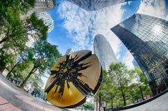 Finanzwolkenkratzergebäude in Charlotte North Carolina Stockfoto