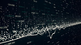 Finanzzahlen und Diagramme, die zunehmende Gewinne zeigen stock video