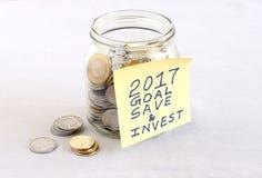 Finanzziel für das Jahr-Konzept 2017 Stockbilder