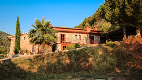 Finca in Mallorca. Typical finca with trees and big garden just outside Alcudia in Mallorca stock image