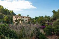 Finca on Mallorca. View of a Mallorcan finca with garden, Spain Stock Photo