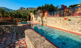 Finca w Mallorca, pływacki basen, Spain fotografia royalty free