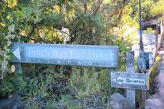 Finch Bay Galapagos Hotel Sign Stock Photography