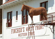 A Fincher`s White Front Shot, Fort Worth Stockyards Royalty Free Stock Images