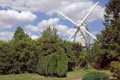 Finchinfield England. View of a windmill in the village of Finchingfield England Royalty Free Stock Image