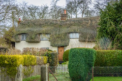 Finchingfield Winter 2015. Modern day scene in an old Essex, English village on a sunny winters day Stock Image