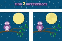 Free Find 7 Differences. Find The Differences. Educational Game For Children. Stock Photos - 193566873
