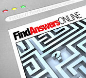 Find Answers Online - Web Screen Stock Images