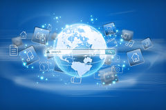 Find an application in the global Internet.  Royalty Free Stock Photo