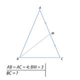 Find the base of the triangle Stock Images