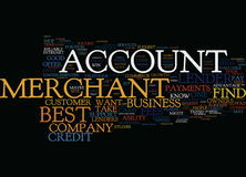 Find The Best Merchant Account Text Background  Word Cloud Concept. FIND THE BEST MERCHANT ACCOUNT Text Background Word Cloud Concept Stock Photography
