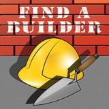 Find A Builder Represents Contractor Search 3d Illustration. Find A Builder Hat Represents Contractor Search 3d Illustration Royalty Free Stock Images