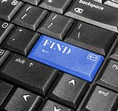 Find button. Stock Photo