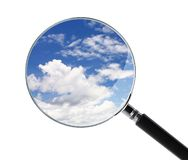 Find Cloud. A find Cloud computing concept Royalty Free Stock Photo