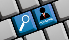 Find coaching online Royalty Free Stock Image
