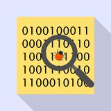 Find computer virus icon, flat style. Find computer virus icon. Flat illustration of find computer virus vector icon for web design Royalty Free Stock Photo