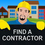Find A Contractor Shows Finding Builder 3d Illustration. Find A Contractor Showing Finding Builder 3d Illustration Stock Photos