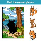 Find the correct picture, game for children. Quokka Royalty Free Stock Image