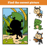 Find the correct picture. Little ant and background. Find the correct picture, education game for children. Little ant and background Royalty Free Stock Images