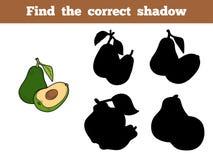 Find the correct shadow (avocado) Royalty Free Stock Photos