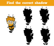 Find the correct shadow (bees) Royalty Free Stock Photo