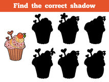 Find the correct shadow (cupcake) Royalty Free Stock Photo
