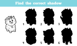 Find the correct shadow (dog). Game for children: Find the correct shadow (dog Royalty Free Stock Images