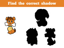 Find the correct shadow (dog). Game for children: Find the correct shadow (dog Royalty Free Stock Photography
