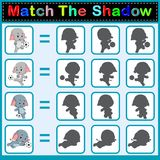 Find the correct shadow of the elephant. Illustration of Find the correct shadow of the elephant Royalty Free Stock Photo