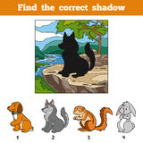 Find the correct shadow. Find animal by shadow Stock Photography