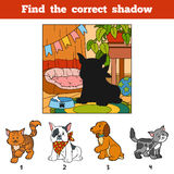 Find the correct shadow. Find animal by shadow. Find the correct shadow, education game for children. Find animal by shadow Royalty Free Stock Photo