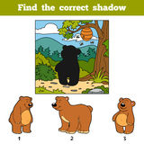 Find the correct shadow. Find animal by shadow. Find the correct shadow, education game for children. Find animal by shadow Stock Photo