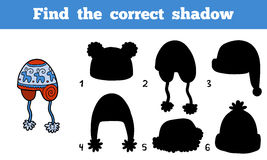 Find the correct shadow, Find cap by the shadows Stock Photos